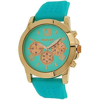 Henley Ladies Analogue Chrono effect Dial Aqua Rubber Strap Watch H06099.6