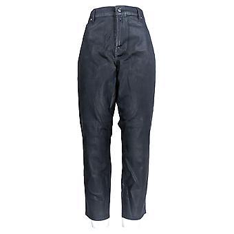 Martha Stewart Mujeres's Plus Jeans Recubierto Tobillo Denim Azul A345125