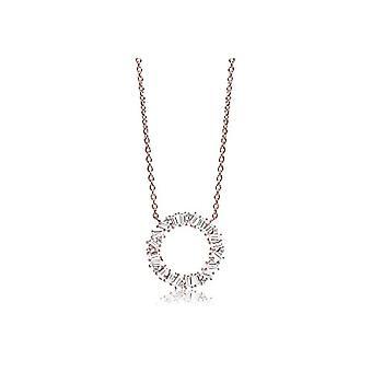 SIF Jakobs Necklace with Donna vermeil pendant - SJ-C0163-CZ(RG)