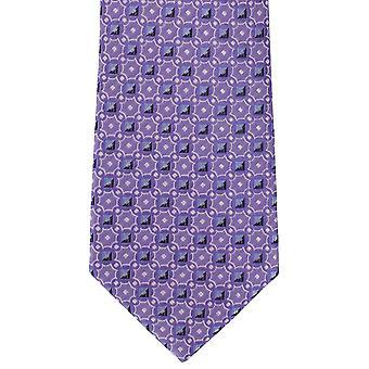 Michelsons of London Linking Neat Silk Tie - Purple