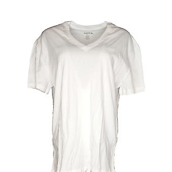 Munsingwear Women's Top Short Sleeve Cotton V Neck White