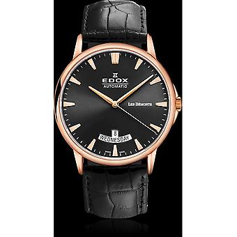 Edox Watches Les Bémonts Men's Watch Day Date 83015 37R NIR
