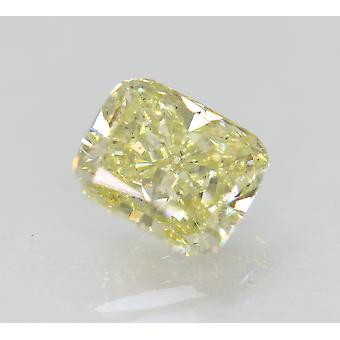 Cert 1.53 Carat Fancy Amarillo VS2 Cojín Diamante Natural Mejorado 6.97x5.94m 2VG