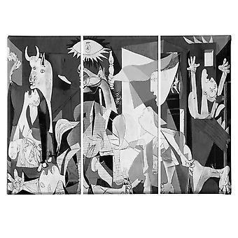 Autorzy' Inspiracja 175 Wielobarwne malarstwo w PES, Drewno, L135xP3xA60 cm