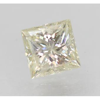 Certified 0.82 Carat J Color VVS2 Princess Enhanced Natural Diamond 5.25x5.22mm