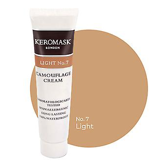 Keromask Full Cover Concealer | 24 Shades | Covers Vitiligo, Rosacea, Scars, Tattoos | Waterproof Camouflage Makeup | Light No 7 | 15ml