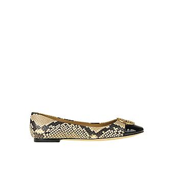 Tory Burch Ezgl032024 Women's Grey Leather Flats