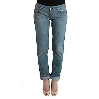 The Chic Outlet Blue Denim Cotton Bottoms Slim Fit Jeans