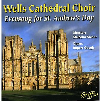 Wells Cathedral Choir, Malcolm Archer - Evensong for st. Andrew's Day [CD] USA import