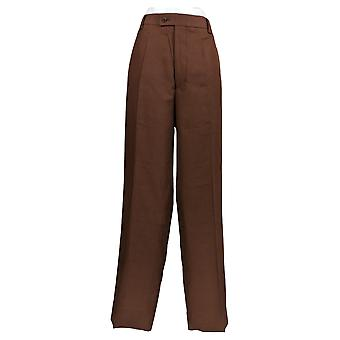 Stacy Adams Men's Casual Pants Waist Polyester Brown