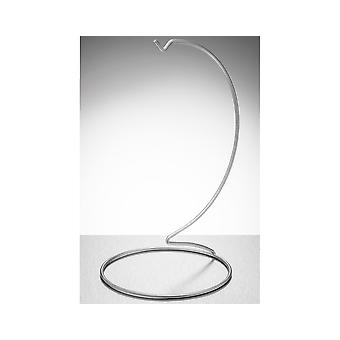 Silver Metal Bauble & Ornament Display Stand - 25cm