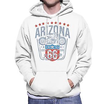 Route 66 Arizona motorcykel mænd ' s hættetrøje