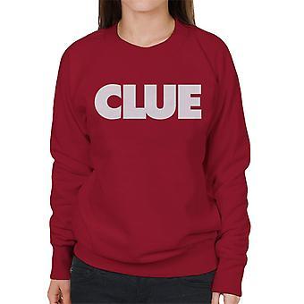 Hasbro Cluedo Clue Tekst Kvinner's Sweatshirt
