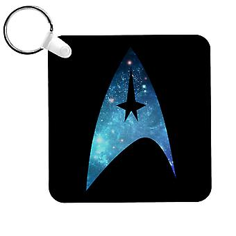 Star Trek Galaxy Siluetti Star Fleet Logo Avaimenperä