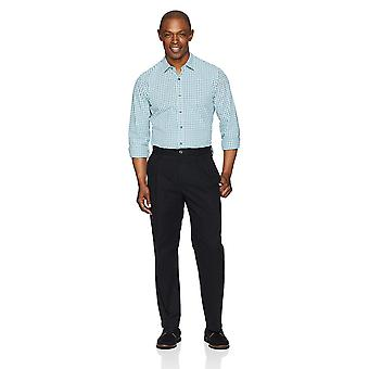 Essentials Men's Classic-Fit Wrinkle-Resistant Chino Pant, True Black, 30W x 32L