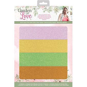 Crafter's Companion Garden of Love A4 Luxury Glitter Card
