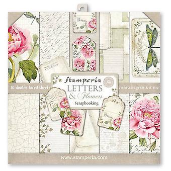 Lettres & Fleurs 12x12 Inch Paper Pack (CFFL22)