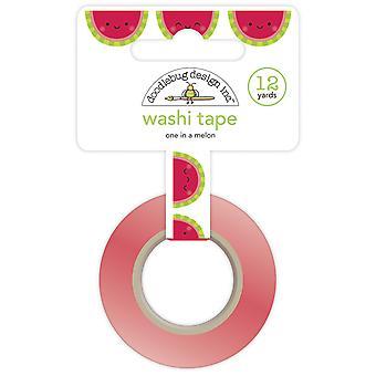 Doodlebug Design One en una cinta de melón Washi