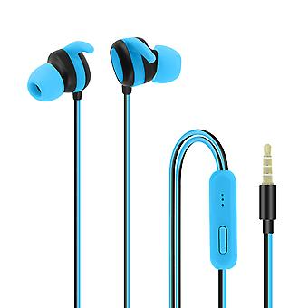 Wired headphones and Multi-function with  3.5 mm Jack connector - blue
