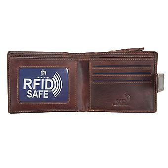 Primehide Mens Leather Wallet RFID Blocking Large Coin Pocket Gent Notecase 4744
