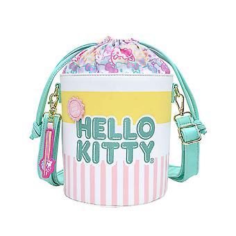 loungefly x hello kitty cup o' kitty cross body bucket bag
