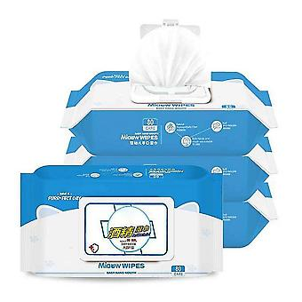 75% Alcohol Disinfects Wet Tissue Wipes Hands And Cleans Skin In 80 Pieces