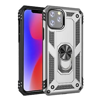 R-JUST iPhone 11 Pro Case - Shockproof Case Cover Cas TPU Gray + Kickstand