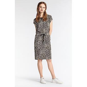 Sandwich Clothing Black & Beige Patterned Skirt