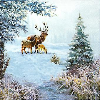 Ambiente 3 Ply Paper Napkins, Deer Family