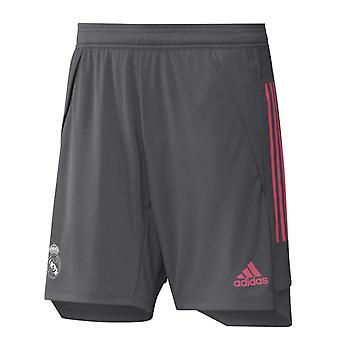 2020-2021 Real Madrid Adidas Training Shorts (Grey) - Kids