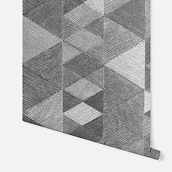 295901 - Luxe Triangle Charcoal - Arthouse Bakgrunn