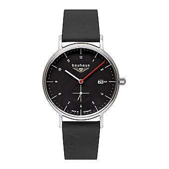 Bauhaus 2130-2 Black Dial With Date Wristwatch