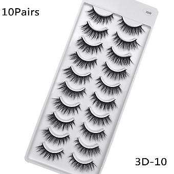 Hand Made Mink Eyelashes Makeup - 3d Natural False Long Fake Extension
