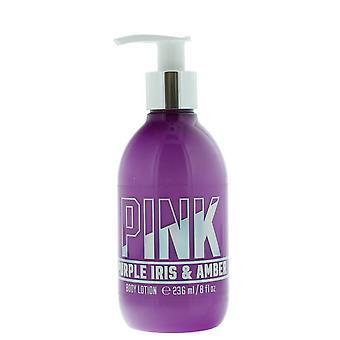 Victoria's Secret Pink Purple Iris & Amber Body Lotion 236ml Con Pompa