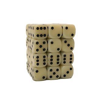 Chessex Opaque 12mm D6 Block - Ivory/black
