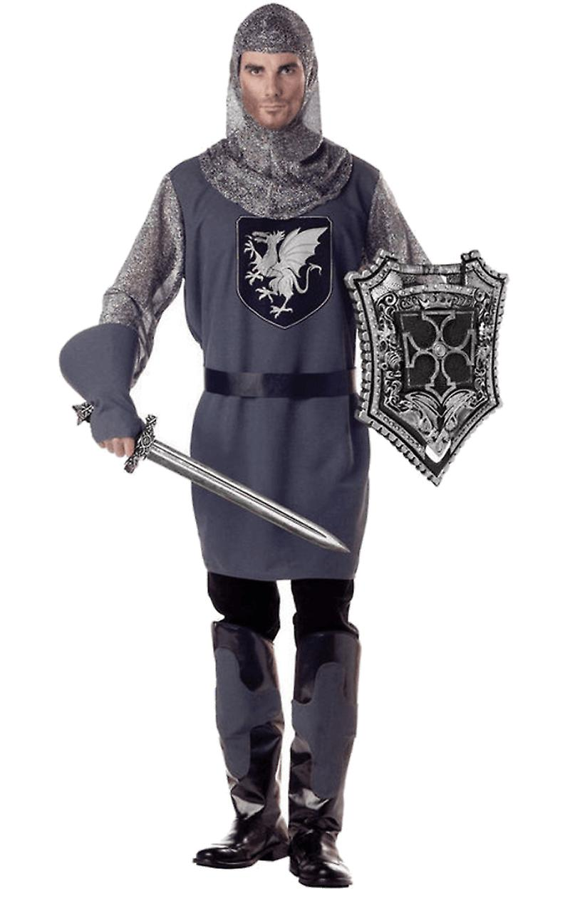 Mens Valiant Knight Medieval /& Gothic Books /& Film Fancy Dress Costume