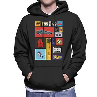 Back to the Future Tile Montage Men's Hooded Sweatshirt