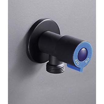Black Angle Valve For Toilet- Brass Copper Valve For Kitchen, Bathroom And
