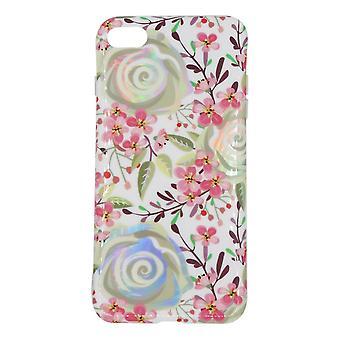 iPhone 7/8 Plus Shell mit Halter Blumen