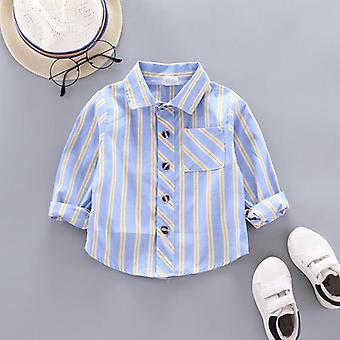 Spring Thin Shirts Baby Long Sleeve Striped Print Kids Tops Tees Casual Blouse