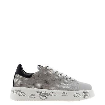 Premiata Belle4897 Dames's Grey Leather Sneakers