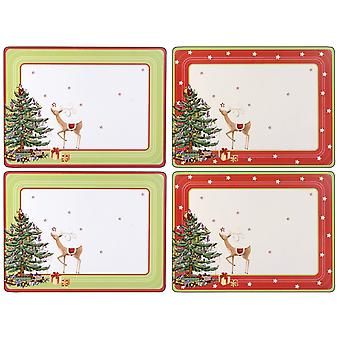 Pimpernel Christmas Jubilee Set of 4 Large Placemats, 40 x 30cm
