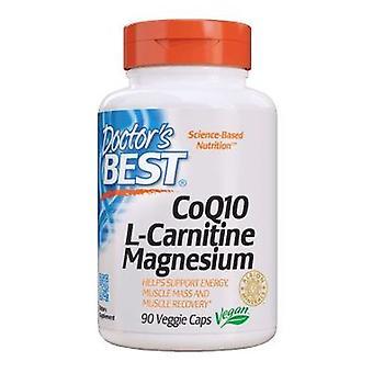 الأطباء أفضل CoQ 10 L-كارنيتين المغنيسيوم، 90 قبعات الخضار