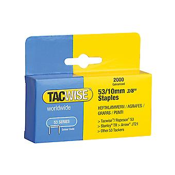 Tacwise 53 Light-Duty Staples 10mm (Type JT21, A) Pack 2000 TAC0336