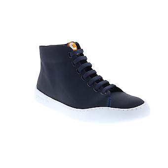 Camper Peu Touring  Mens Blue Canvas Lace Up Euro Sneakers Shoes