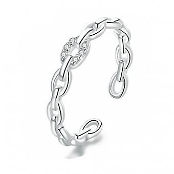 Sterling Silber Ring Kette - 6872