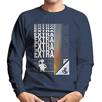 E.T. Extra Terrestrial Mirrored Text Men's Sweatshirt