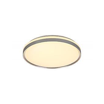 Fern Ceiling 48cm, 36w Led 3 Step-dimmable, 3000k, 1575lm, Ip44, Silver/white Acrylic, 3yrs Warranty