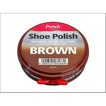 Punch Shoe Polish Brown 40ml