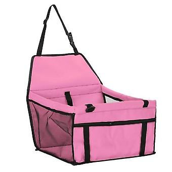 Folding Pet Dog Carrier Pad Waterproof Seat Bag Basket, Safe Carry Bag